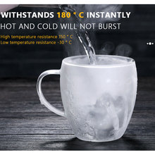 Glass Cups Drinkware Coffee-Mug Double-Wall Transparent 1 1PC Kitchen-Supplies Heat-Resistant