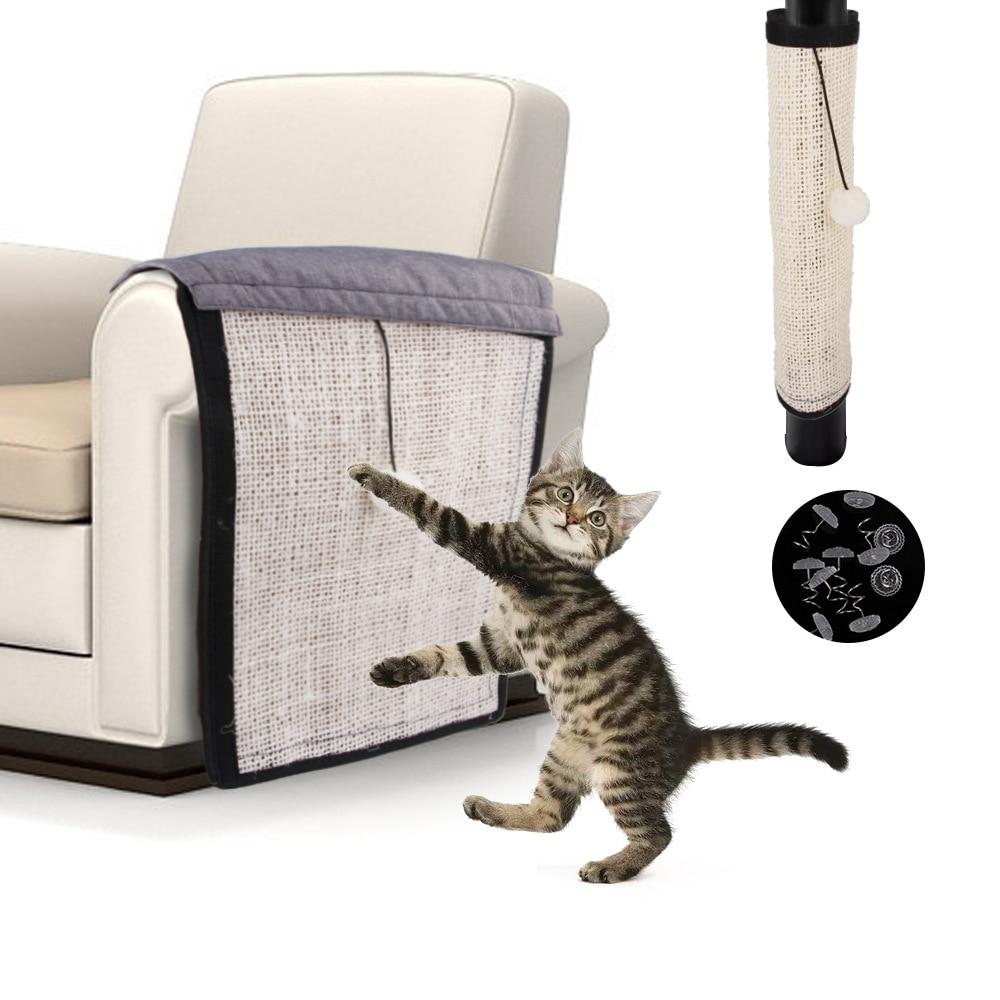Professional 1Pc Natural Sisal Hemp Cat Scratch Board Mat Scratching Post Toy Kitten Furniture Pad Sofa Protector 1
