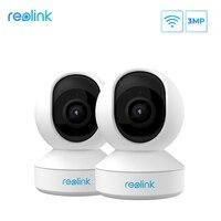 Telecamera di sicurezza domestica Reolink 3MP 2.4G Hz WiFi Pan/Tilt Slot per scheda SD Audio a 2 vie telecamera IP interna E1