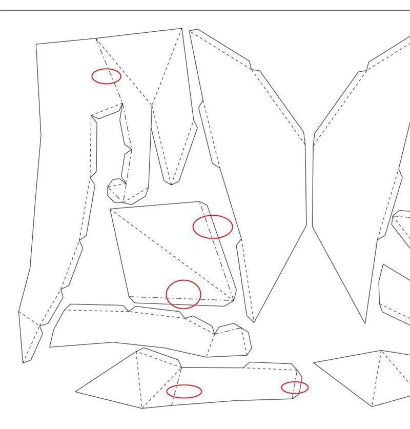 Gato de origami decorativo plano_4