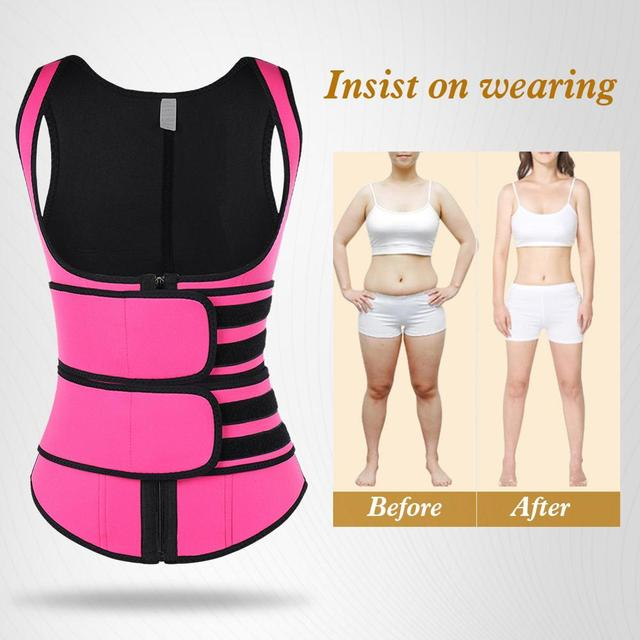 Lover-Beauty Neoprene Sauna Shaper Waist Trainer Corset Sweat Slimming Belt Women Weight Loss Compression Trimmer Workout Vest 3