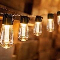 Festone collegabile delle luci della stringa della lampadina di Edison all'aperto resistente impermeabile 10M per il caffè della ghirlanda di festa di natale del giardino del partito