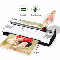 4 in 1 Hot & Cold Laminator with Rotary Trimmer & Corner Rounder Photo/Doucment/Card Laminator Machine for A4 Paper Photo