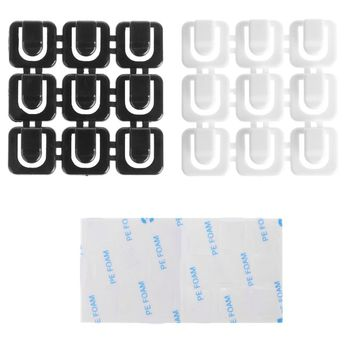 18Pcs/set Self-adhesive Wire Tie Cable Mount Clip Car USB Cable Sticker Fixed Clamp Wiring Accessories image