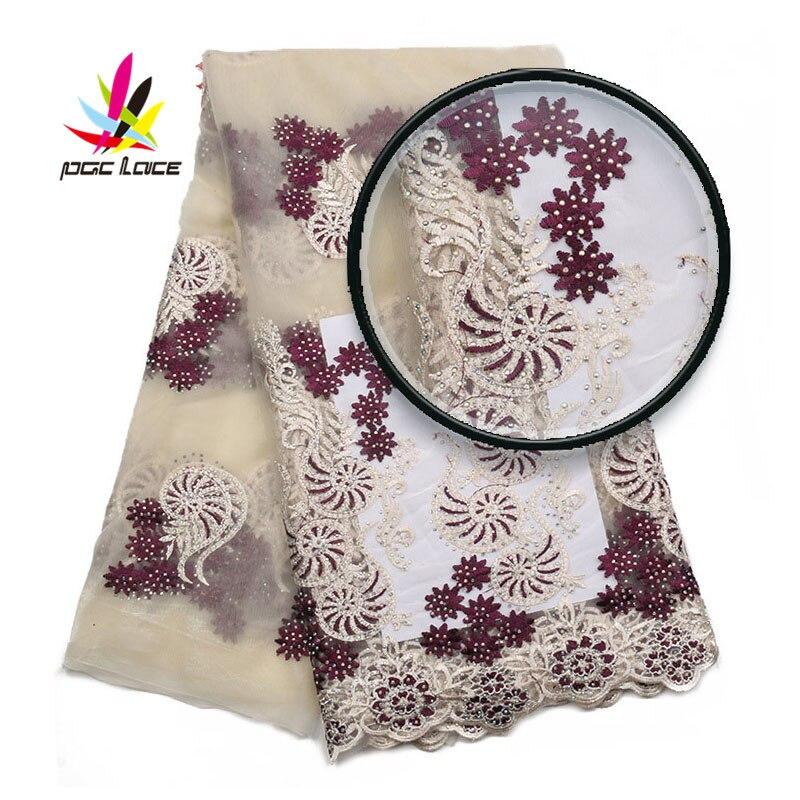 고품질 나이지리아 레이스 직물 수 놓은 얇은 명주 그물 레이스 직물 최신 디자인 아프리카 프랑스어 돌 tull 레이스 직물 AMY2016B 1-에서레이스부터 홈 & 가든 의  그룹 1