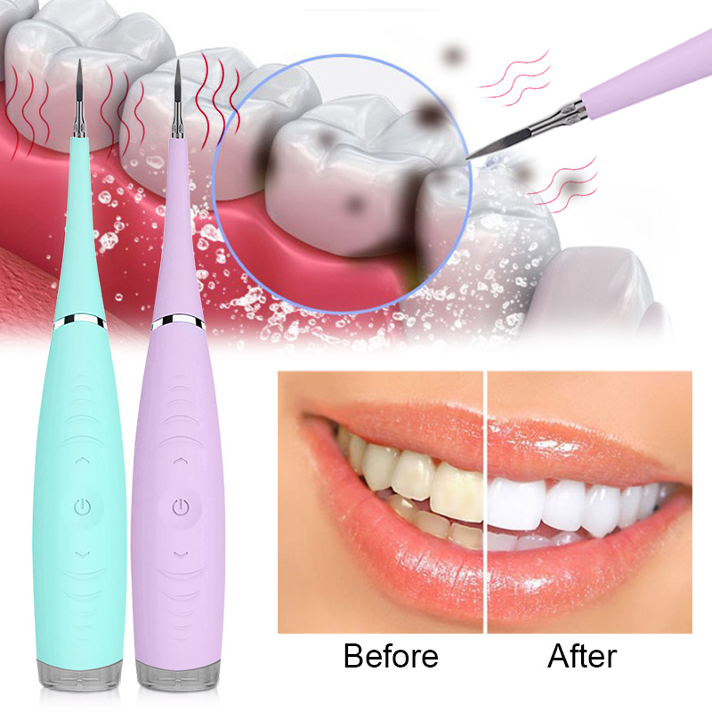 Sonic Silicone Tooth Cleaner 5 Modes Rechargeable USB Electric Dental Scaler Tooth Calculus Remover Stains Tartar Remove