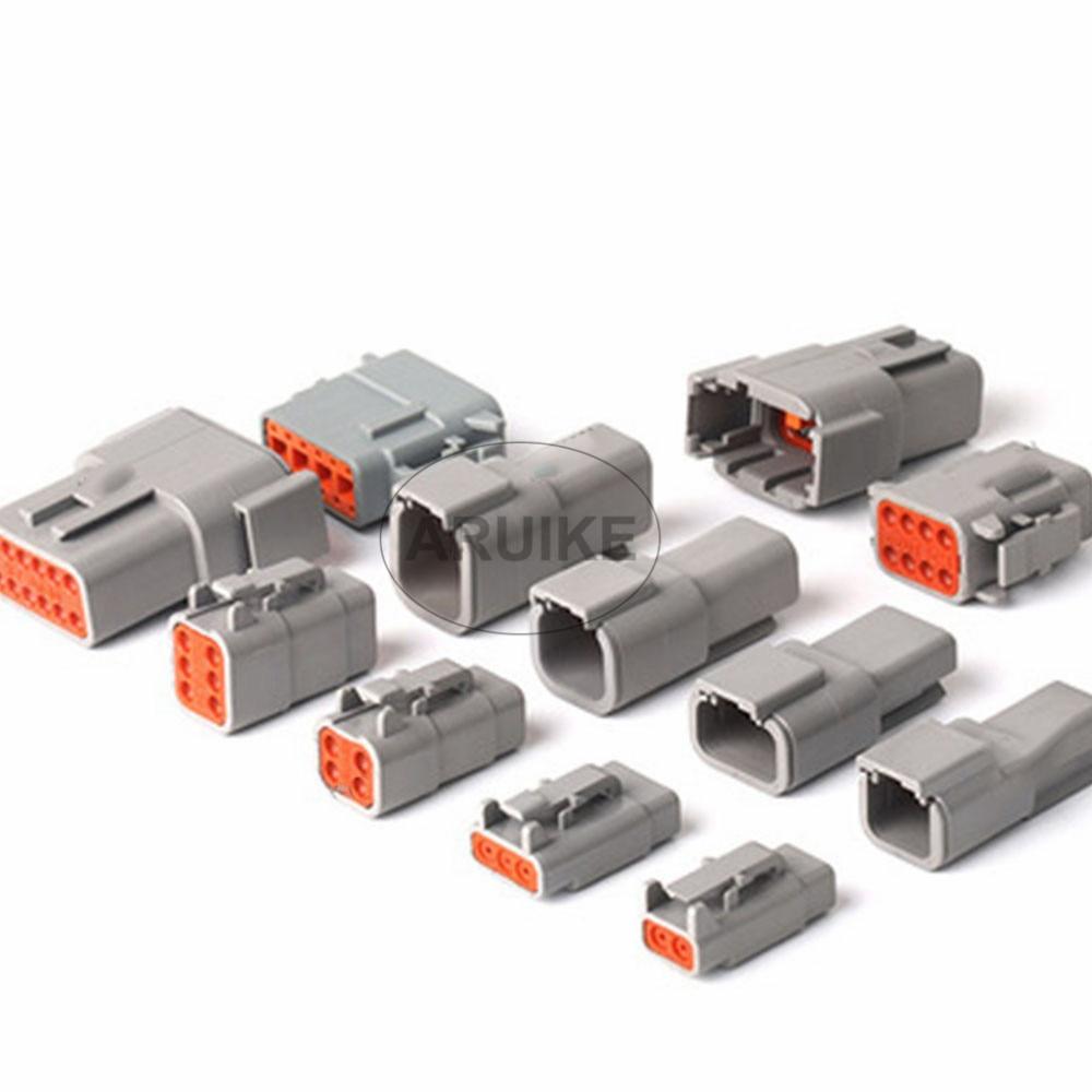 1 Sets Deutsch DTM 2P-12P DTM06-2S 3S 4S DTM04-2P 3P 4P 6P 8P 12P 20-24AWG conector impermeable con pines de sellado, macho