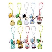 Cute Corner Biology Keychains Anime Sumikko Corner Cartoon Key Chain Pendant For Children Bag Keyring Gifts Lovers Bag Pendant 2020 cartoon cute pikachu keychains anime keyring bell key chain handbag key ring kid toy pendant for women men gifts