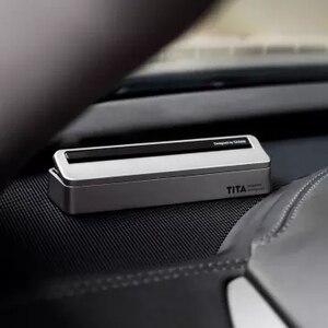 Image 2 - Xiaomi TITA manyetik dur işareti otopark kartı araba taşıma floresan telefon numarası Sticker Stereo ters görünmez