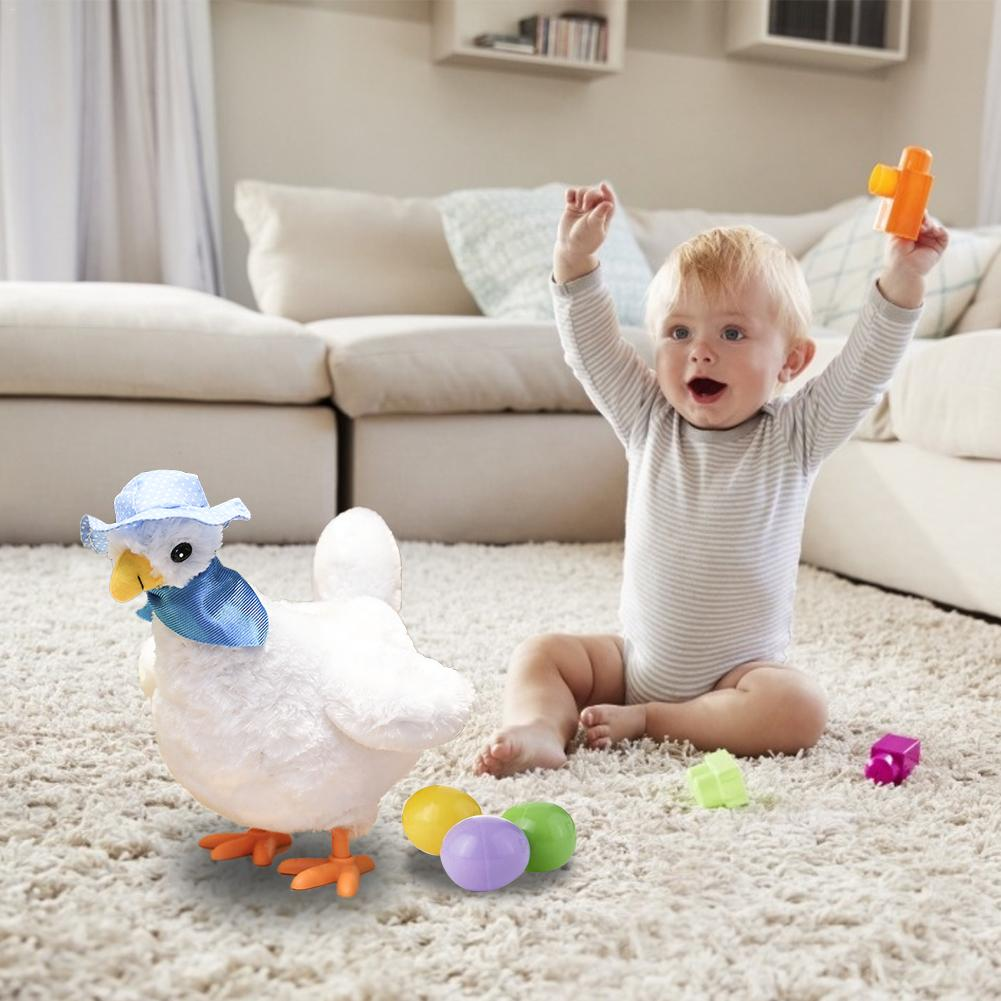 Creative electric hen Toy Hen Hen Laying Egg Shocked Joke Gift Child Anti-Stress Gadget Fun Game indoor Or Outdoor image