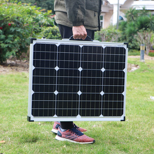 Image 5 - Dokio 100W Faltbare Solar Panel China (2Pcs x 50W) 18V + 10A 12V Controller Solar Batterie Zelle/Modul/System Ladegerät