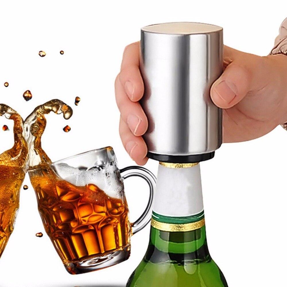 2017 Automatic Beer Bottle Opener Stainless Steel Material Bar Wine Beer Soda Glass Cap Bottle Opener Portable Open Tool