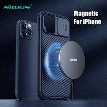 Nillkin جراب هاتف خلوي مغناطيسي ، حافظة زجاجية منزلقة لهاتف iPhone 12 Pro ، Max ، 6.1 بوصة
