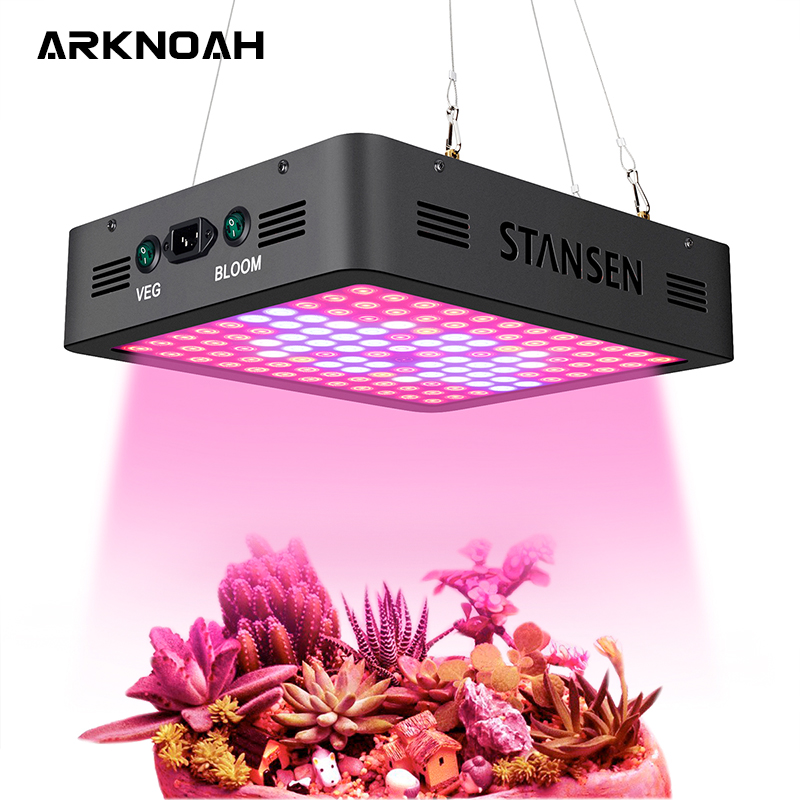 ARKNOAH 1200W Grow Light For Plants Veg And Bloom With 10W Dual Chip Beads X2 Lens In Greenhouse Hydroponics Grow Tent