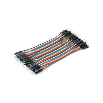 цена на Super Long 40PCS/SET COlorful DuPont line 2.54mm 1p-1p Pin Male to Male Color Breadboard Cable Jump Wire Jumper For Arduino