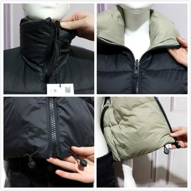 2021 Autumn Winter Women Fashion Double-Sided Jacket Coat Vintage Black Warm Sleeveless Cotton Outwear Female Casual Short Tops 4