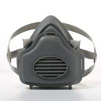 3700 metade do rosto poeira máscara de gás respirador segurança máscara protetora anti poeira filtro pm2.5 substância prejudicial respirador