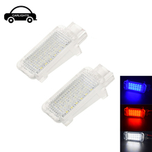 цена на 2pcs 18SMD led footwell car interior lights for Audi A1 A2 A3 S3 A4 B6 S4 RS4 A5 S5 Q5 A6 S6 A7 S7 Q7 R8 TT auto truck lamps
