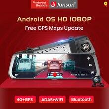 Junsun A930 10 ''adas поток медиа зеркало заднего вида Avtoregistrator 4 г Android Smart тире камера FHD 1080 P Авто регистраторы gps