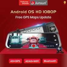 Junsun A930 10 ''Adas Stream Media Belakang Cermin Avtoregistrator 4G Android Smart Dash Camera FHD 1080P auto Perekam GPS(China)