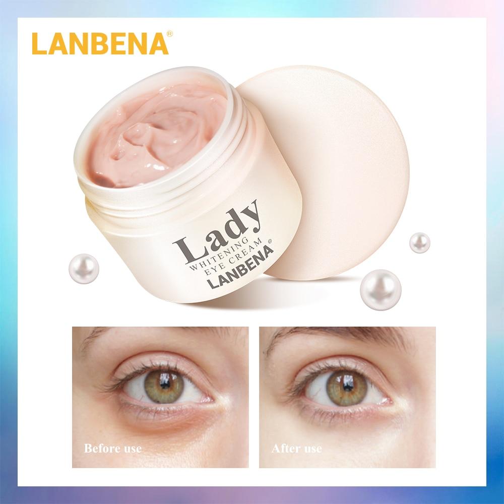 LANBENA Branqueamento Creme Para Os Olhos Olho Círculo Escuro Anti-Aging Eye Patch Reparação Ageless Soro Lifting Firming Anti-Inchaço cuidados Com a pele