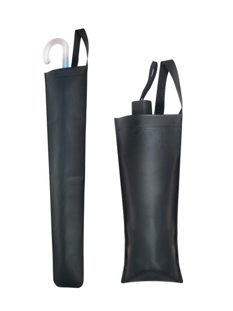 Sac de parapluie de voiture en cuir imperméable à l'eau pliant Long ou court poignée porte-parapluie organisateur de coffre d'automobile de voiture pour parapluie
