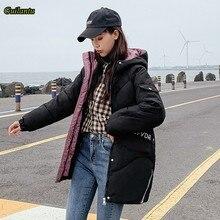 2020 Hoodies Parka Mujer kış kadın ceket kalın aşağı pamuk yastıklı kapşonlu ceket artı boyutu 4xl uzun Parkas kadın palto