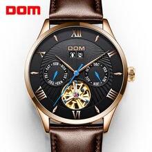 Dom оригинальный дизайн часы мужские tourbillon автоматические