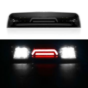 Replacement For 2009-2017 Dodge Ram 1500 2500 3500 Rear 3rd Tail Brake LED Light Cargo Lamp 55372082AE 55372082AF for toyota tundra v8 2007 2016 rear 3rd brake cargo led tail light 08 09 black