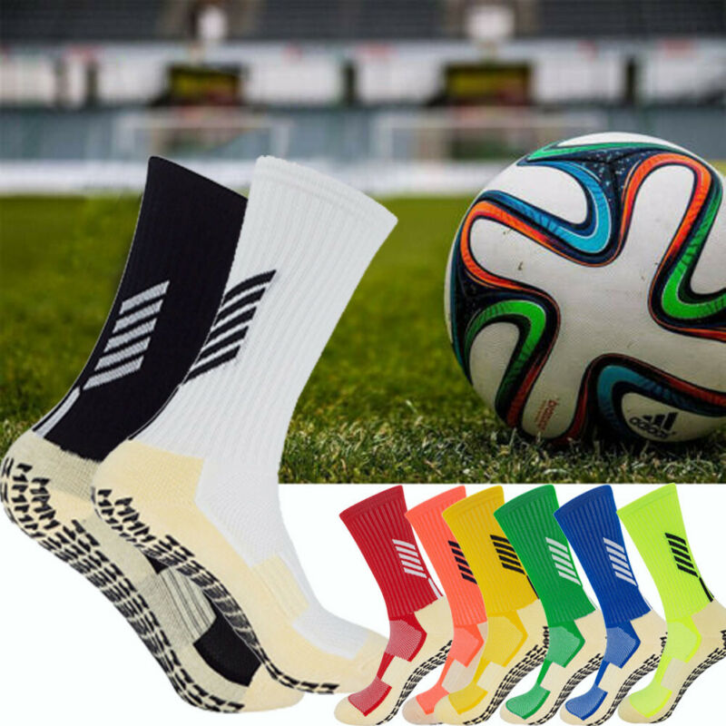 Mens Cycling Outdoor Football Socks Anti Slip - Non Slip Grip Pads Sports Soccer