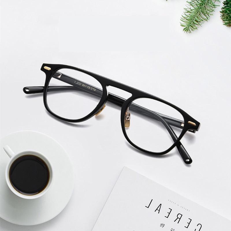 Brand Design Vintage Rectangle Acetate Unisex Eyeglasses Optical Myopia Glasses Frame Men Women Spectacles oculos de grau