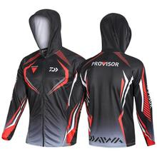 2020 Famous Brand Men Daiwa Sports Fishing Outdoor Mesh Breathable Hood Mens Clothes Dawa New White Jersey