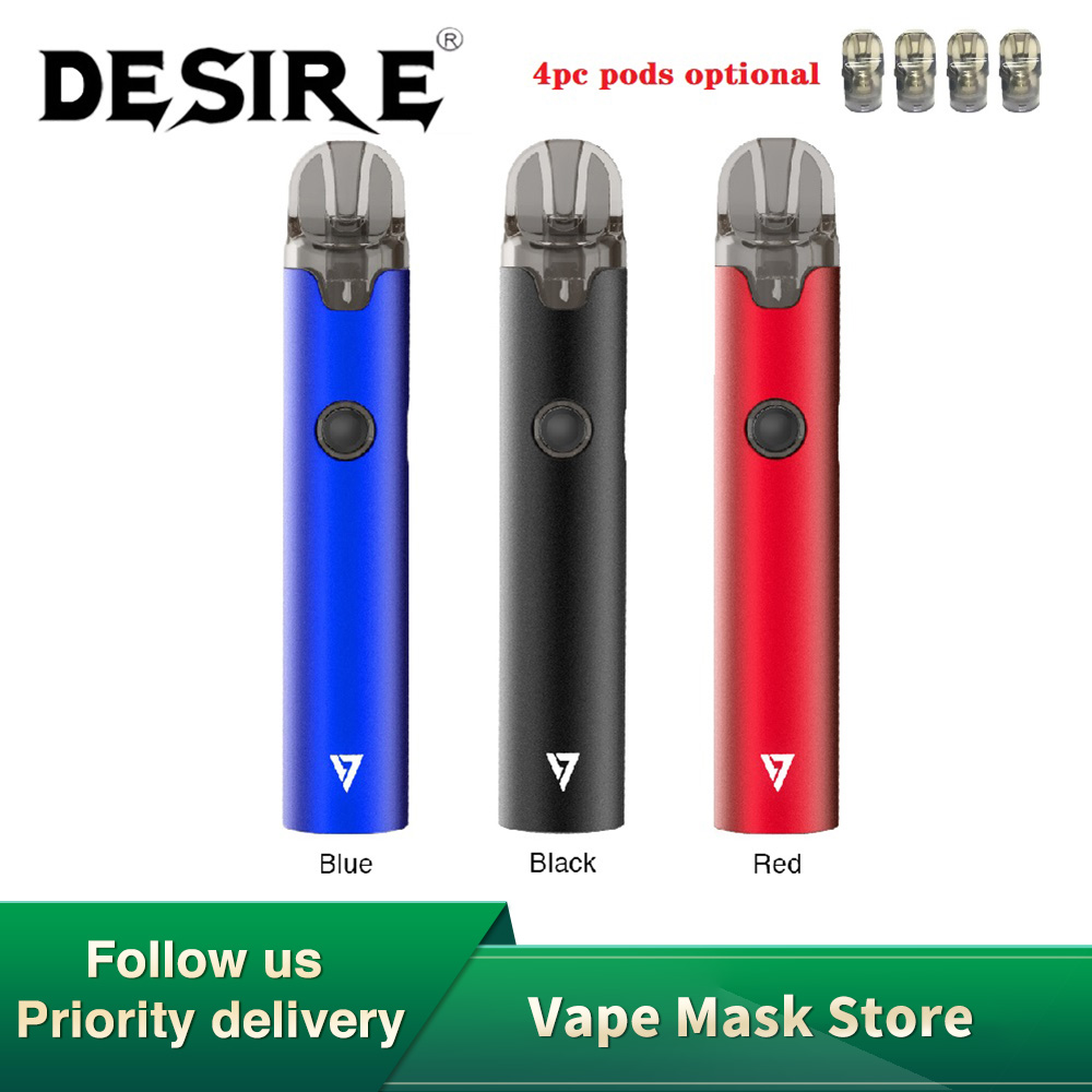 New Original Desire More Pro Pod Vape Kit With 1000mAh Battery & 2ml Cartridge Pod System Vape Pod Kit Vs Minifit / Drag Nano