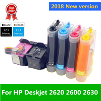 2018 Printer New version 123 Continuous Ink supply system Compatible for HP Deskjet 2620 2600 2630 Deskjet 1110 2130 2132 3638