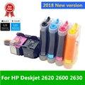 2018 Printer Nieuwe versie 123 Continue Inkttoevoer systeem Compatibel voor HP Deskjet 2620 2600 2630 Deskjet 1110 2130 2132 3638