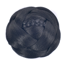 Soowee черные высокотемпературные волокна синтетические волосы на клипсах аксессуары Плетеный шиньон волосы булочка валик-бублик головные уборы