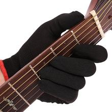 1PCS Fingertip Anti-pain Nylon Guitar Glove Bass Glove Practice Fingertips Glove For Professional Beginner Musicians gorilla tips by im fingertip protector cover in clear blue pain relier for guitar bass ukulele players string finger guards