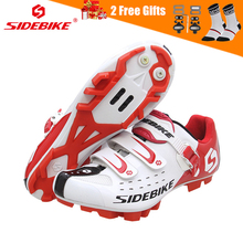 SIDEBIKE Men Mountain Bike Shoes Cycling Road Bicycle MTB Shoes Breathable Wear Resistant Self-locking Cycling Sneakers White sidebike men mountain bike shoes cycling road bicycle mtb shoes breathable wear resistant self locking cycling sneakers white
