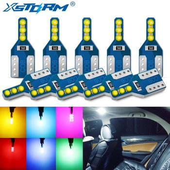 10Pcs T10 W5W Led Bulb WY5W 194 168 Car Led Signal Lamp Interior Lights Clearance Side Marker License Plate Light 12V Auto 10pcs car lights t10 led clearance lights w5w parking bulb white 6000k crystal blue 192 168 indoor light 12v car accessories