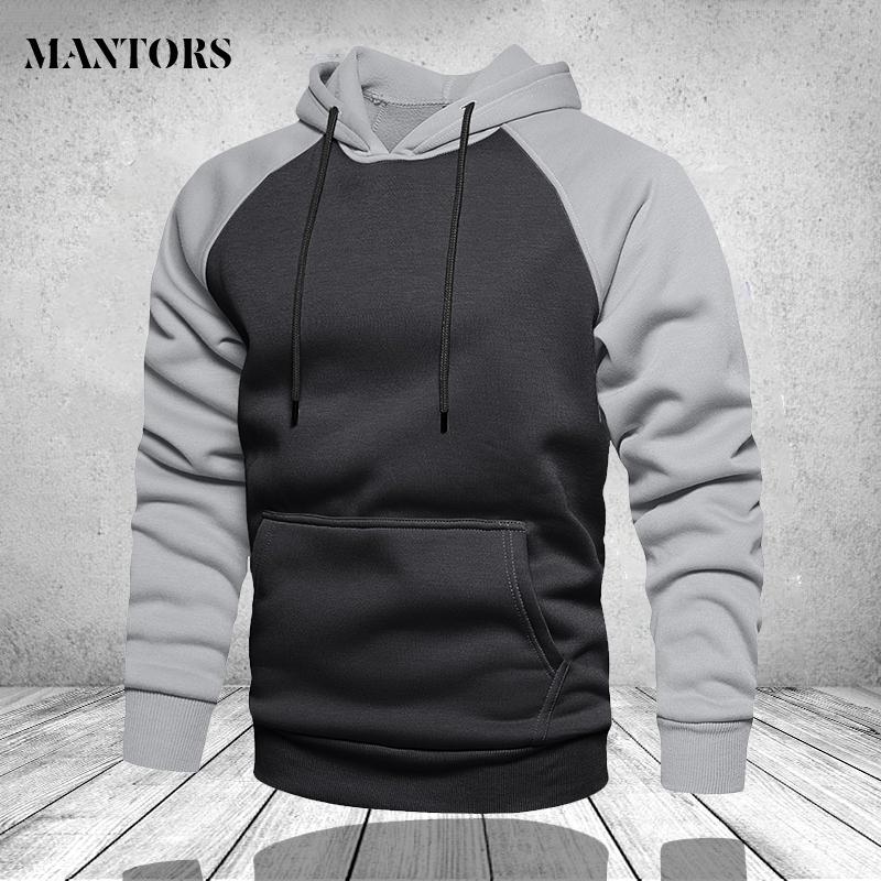 Winter Oversize Men Hoodies Long Sleeve Hooded Sweatshirt Pullover Men's Tops Blouse Pocket Pullover 4XL Thick Warm Coat Male
