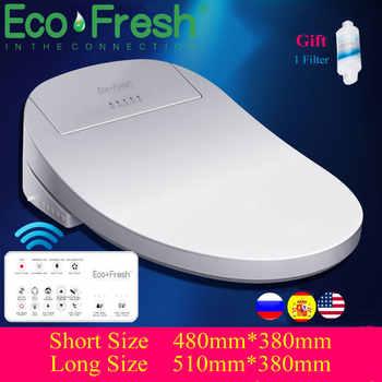 Ecofresh Slimme Toiletbril Elektrische Bidet Cover Intelligente Bidet Warmte Schoon Droog Massage Zorg Voor Kind Vrouw De Oude