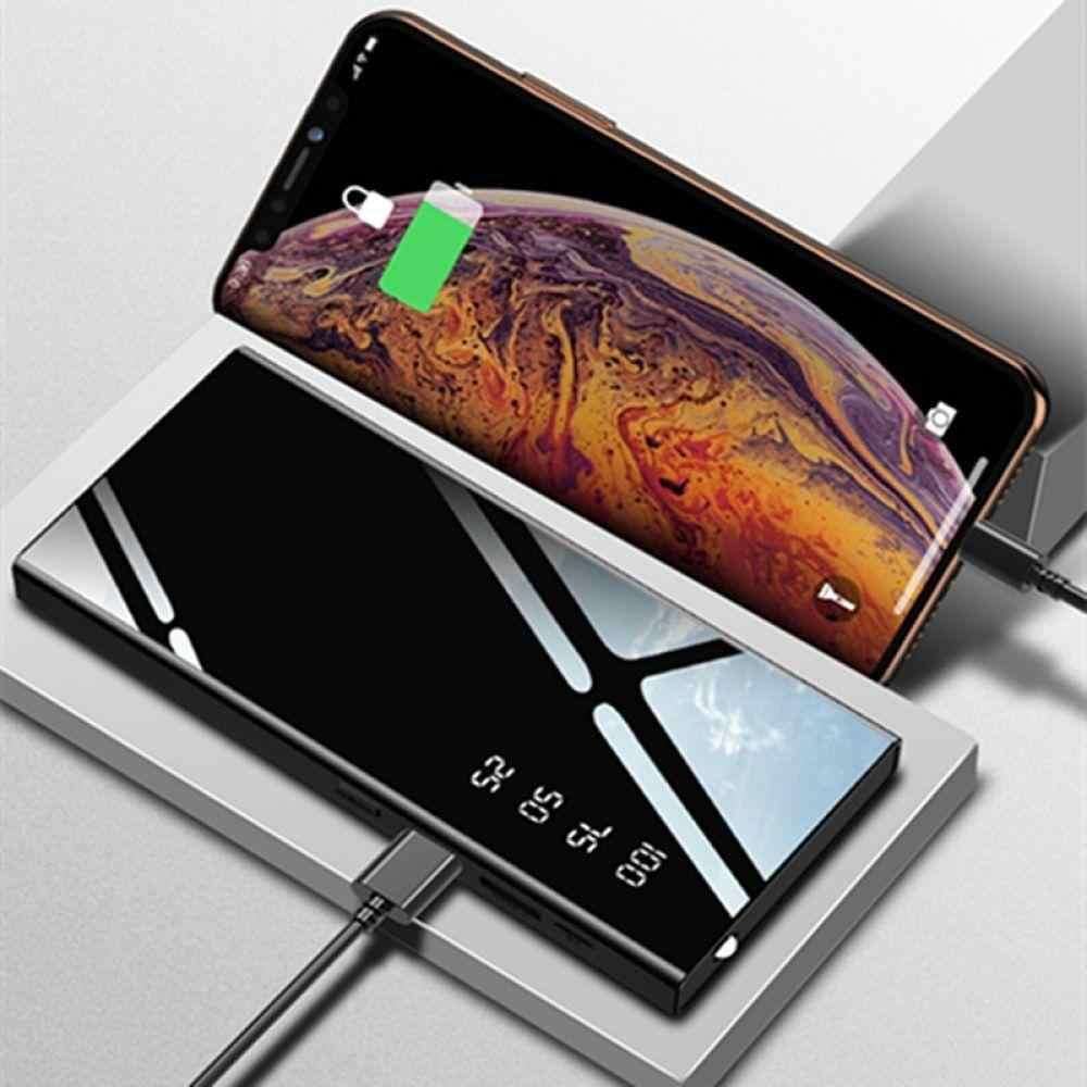 Mi rror 30000mah قوة البنك بطارية خارجية حزمة LCD المحمولة الهاتف المحمول شاحن باوربانك ل شياو mi mi فون X Note8