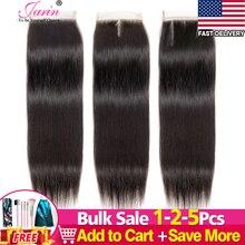 1-2-5 шт./лот прямая кружевная застежка 4x4 свободные/Средние/три части перуанские человеческие волосы наращивание кружевная застежка Remy Jarin во...
