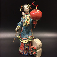 Chinese Style Creative Classical Lady Statue Beautiful Women Figurine Ceramics Crafts Decorations For Home Collection R3963