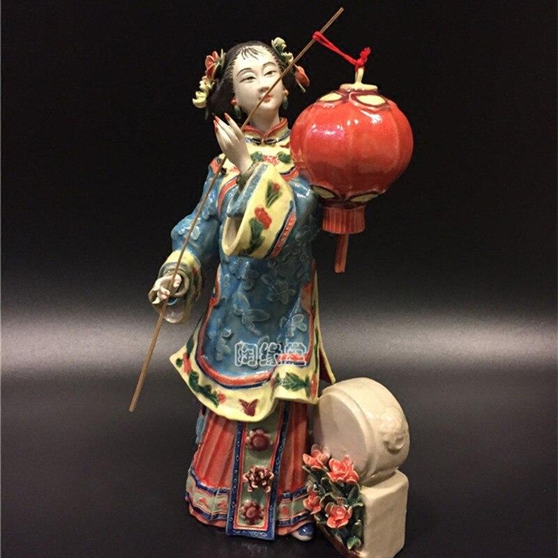 Estatueta de Cerâmica Decorações para Coleção Estilo Chinês Criativo Clássico Senhora Estátua Bonita Artesanato Casa R3963