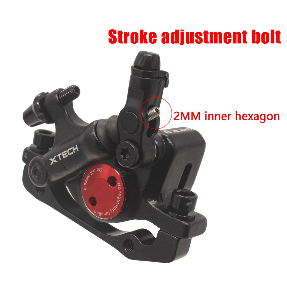 ZOOM XTECH HB100 MTB Line Pulling Hydraulic Disc Brake Calipers with Rotors 12