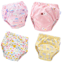 Baby Training Nappy Cloth Panties Reusable Washable Newborn Cotton Diaper Cover For Children Fit 0-18Kg baby