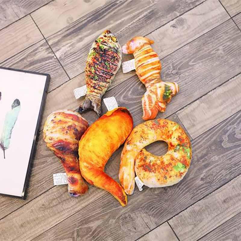 Imitacja jedzenia poduszka pluszowa grillowana ryba noga kurczaka zabawki nadziewane miękkie lalki dla dzieci nowe zabawki