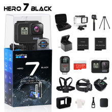 GoPro HERO 7 Black Waterproof Action Camera with Touch Screen Sports Cam Go Pro HERO 7 12MP Photos Live Streaming Stabilization(China)