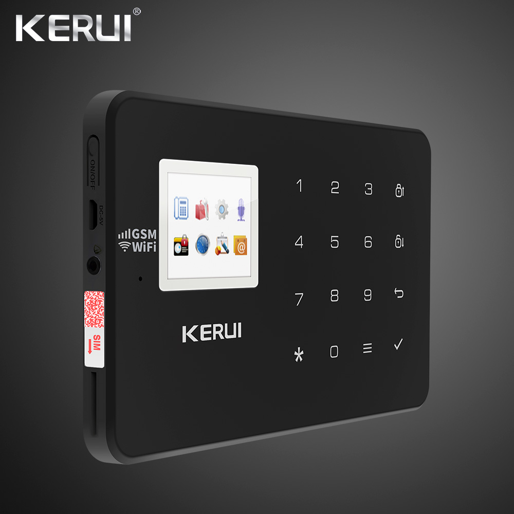Image 5 - Kerui W18 Wireless Wifi Home Alarm GSM IOS Android APP Control LCD GSM SMS Burglar Alarm System For Home Security Alarm-in Alarm System Kits from Security & Protection
